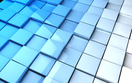 Abstract image of cubes background in blue toned  Stock Photo