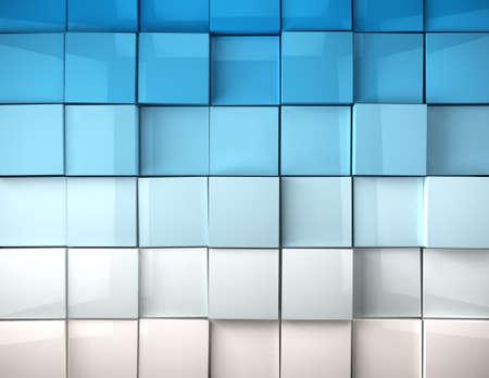 Abstraktes Bild Würfel Hintergrund in blau getönten