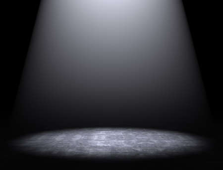 desolate: Cement floor background with spotlight
