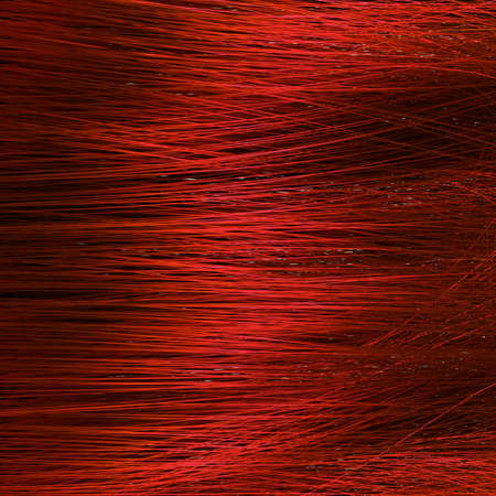 Detail of red hair texture