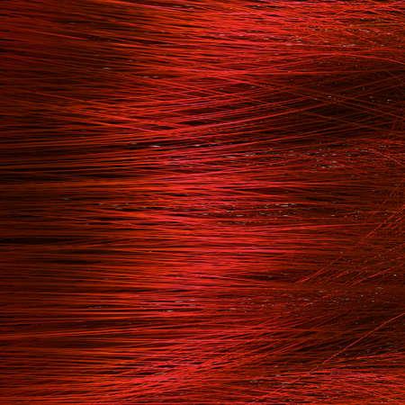 texture capelli: Particolare della struttura dei capelli rossi Archivio Fotografico