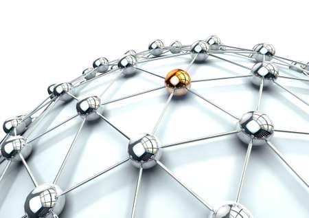 3D-Bild der Vernetzung und Internet-Konzept in weiß isoliert