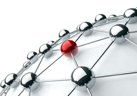 3d image of networking and internet concept isolated in white Stockfoto