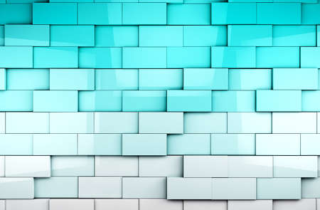 Mosaic tiles background in blue toned photo