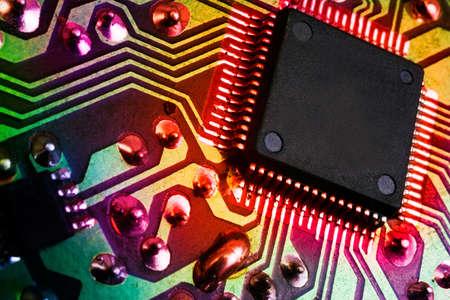 Hintergrund elektronisches Bild mit Mikroprozessor Detail