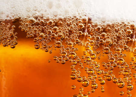 beer bottle: Abstract background beverage and bubbles Stock Photo