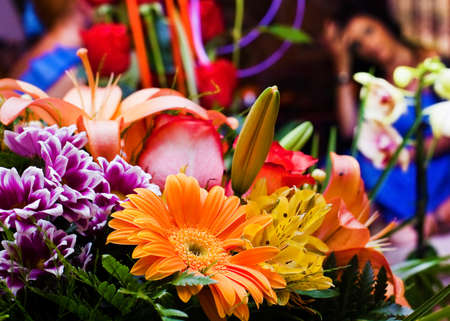 bunch up: Close up image of bunch of flowers Stock Photo