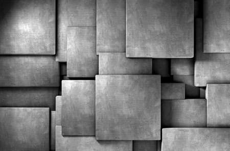3d abstract background cement  blocks