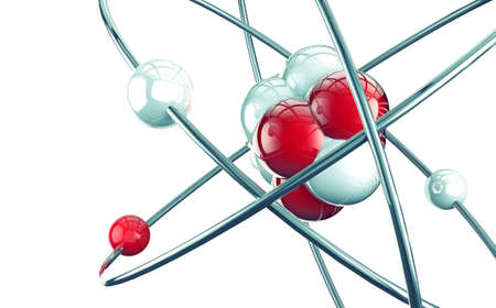3d átomo o molécula de diseño moderno