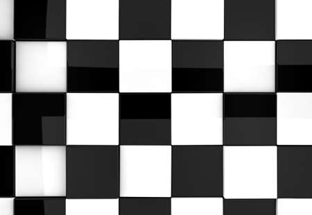 Shiny chess background detail in black and white photo