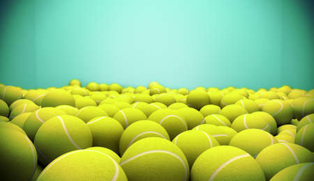 3d image of several tennis balls Stock Photo - 18586167