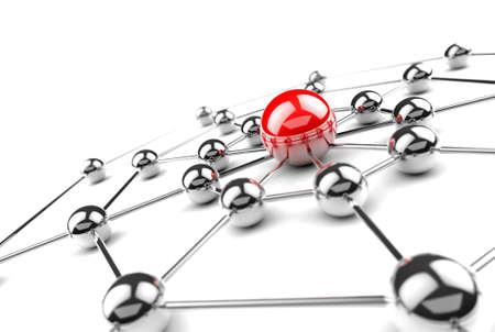 インターネットとネットワー キングの concept.3D ネット