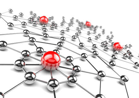 Internet and networking concept.3D net