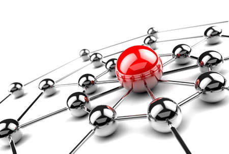 intranet: Internet and networking concept.3D net