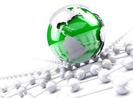 Globe map.Internet mundo y el concepto de redes de negocios