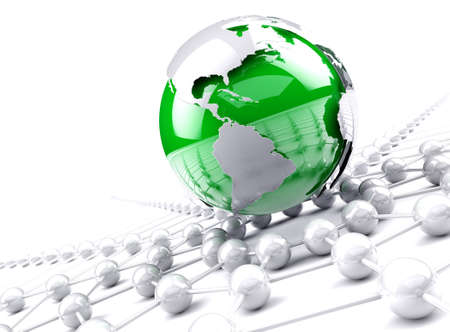 world group: Globe world map.Internet and business networking concept