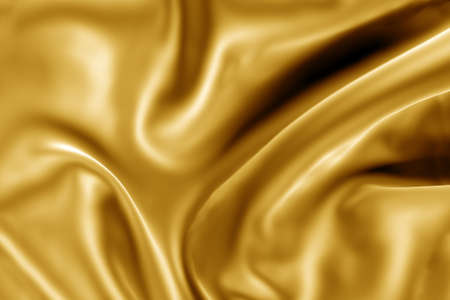 gold fabric: 3d image of gold fabric texture Stock Photo