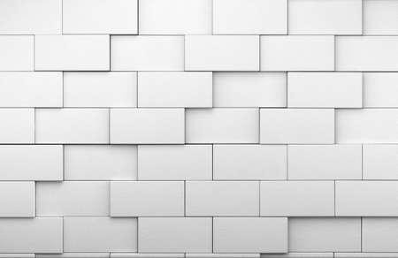 3d tegola bianca parete di fondo Archivio Fotografico - 18586363