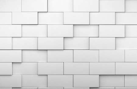 3d white tile wall background Stock Photo - 18586363