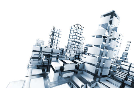 abstract architecture .technology and architecture concept Archivio Fotografico