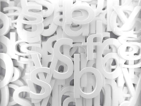 3d background white letters and alphabet photo
