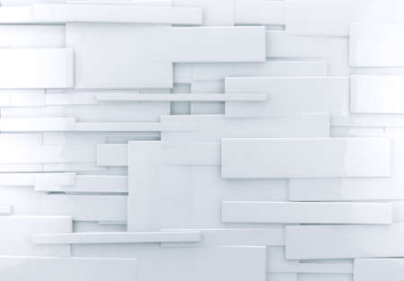 immaculate: abstract architectural,White abstract wall with shiny cubes Stock Photo
