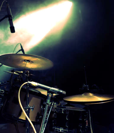live action: drum on stage.