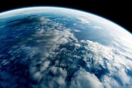 지구는 우주에서 본 스톡 콘텐츠