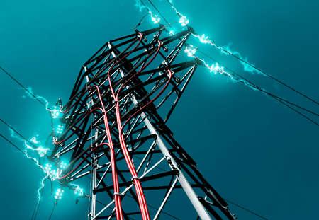 Pilón. Concepto de la electricidad y la energía. Foto de archivo - 26888414