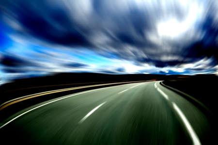 paesaggio industriale: Estratto road.Highway e concetto di velocità