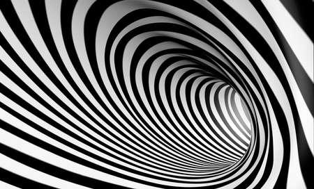 preto: Fundo espiral abstrato 3D em preto e branco