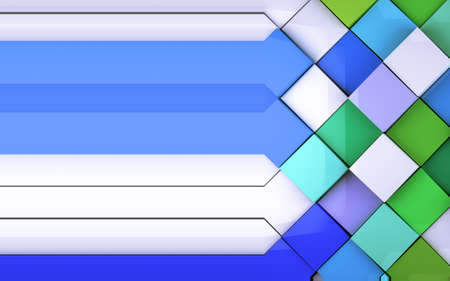 Multicolored tiles wall background photo
