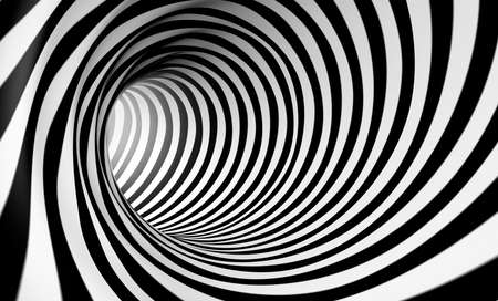 3d abstract spiral background in black and white