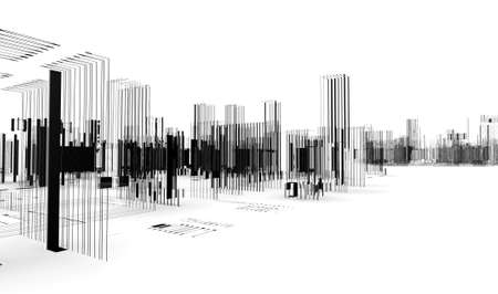 modern residential construction: abstract architecture.City blueprint.