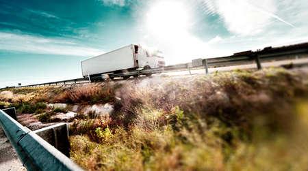 freight forwarding: International forwarding.Trucks carrying goods and highway