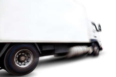 Truck isolato su sfondo bianco .Motion blur.Transport della merce Archivio Fotografico - 41062460