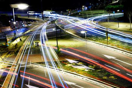 Luci della città astratte durante la notte Archivio Fotografico - 41062617