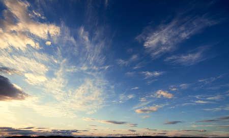dreamy: Dreamy windy evening sky Stock Photo