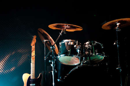 Rehearsal studio.Live music and instruments Stock Photo - 41062666