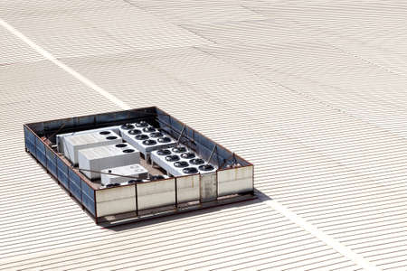 roofing system: Roof detail of manufactures and industrial ventilation equipment