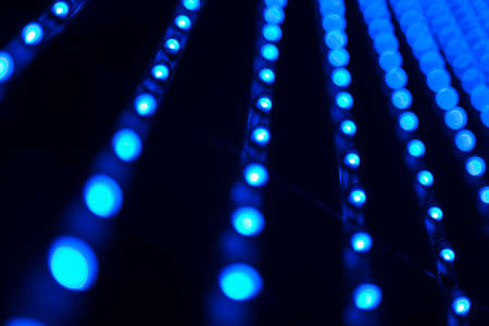 leds: Abstract image of leds bulbs in blue toned Stock Photo