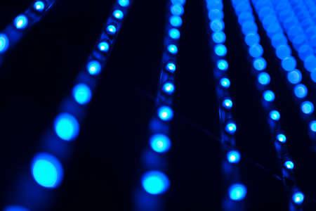 leds: Imagen abstracta de leds bombillas en tonos azules