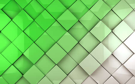 glade: Abstract image of cubes background in green toned