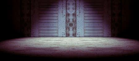 room door: Wood door and cracked floor background