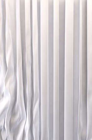 sheer: White curtains background Stock Photo
