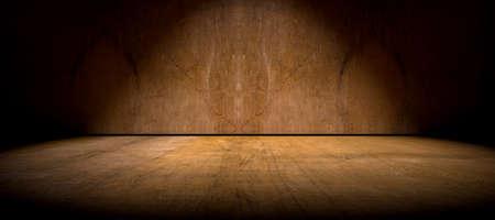 wall light: Wall and floor background illuminated by spotlight