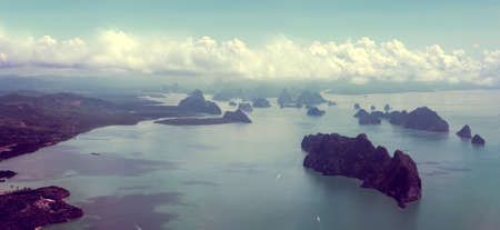thailand beach: Islands and sea scenery from above.Aerial view