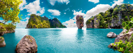 Scenery Thailand sea and island .Adventures and travel concept 스톡 콘텐츠