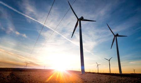 renewable energies. Wind farm. Wind Turbines