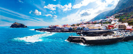 Nature scenic seascape in Canary Island.Travel adventures landscape in Garachico village